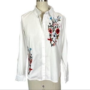 Farrow embroidered cotton button up
